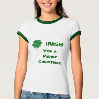 Lustiges irisches Kleeblatt-WeihnachtsShirt T-Shirt
