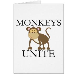 """Lustiges Jahr des Affen """"Affen vereinigen """" Karte"""