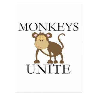 """Lustiges Jahr des Affen """"Affen vereinigen """" Postkarte"""
