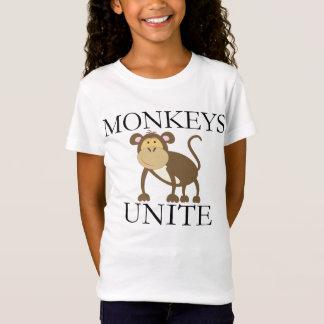 """Lustiges Jahr des Affen """"Affen vereinigen """" T-Shirt"""