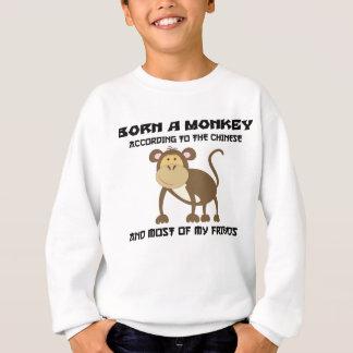 """Lustiges Jahr des Affen """"geboren ein Affe """" Sweatshirt"""