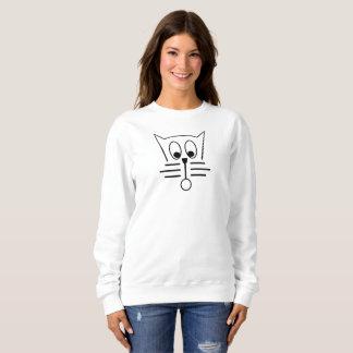 Lustiges Katzen-Gesicht Sweatshirt