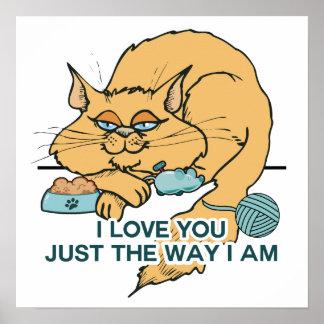 Lustiges Katzen-Grafik-Sprichwort Poster