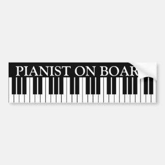 Lustiges Klavier befestigt Autoaufkleber für
