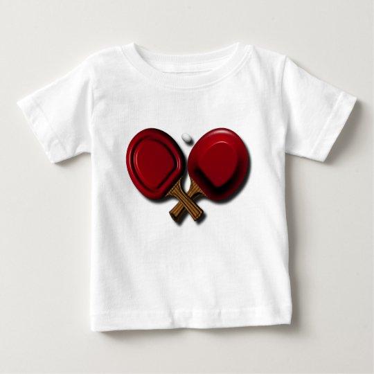 Lustiges Klingeln Pong Tischtennis-Paddel mit Baby T-shirt
