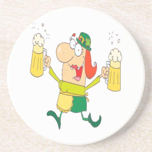 lustiges Kobolddamen-Umhüllungsbier Untersatz