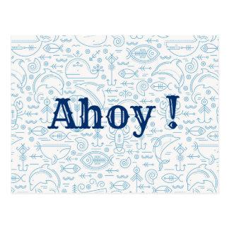 Lustiges kundenspezifisches Seemarineblau Postkarte