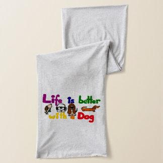 Lustiges Leben ist mit einer Hundekunst besser Schal