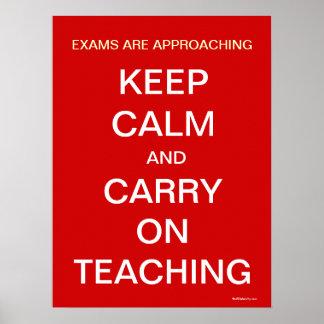 Lustiges Lehrer-Personal-Raum-Plakat behalten Poster