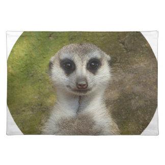 Lustiges Meerkat 002 02_. Stofftischset
