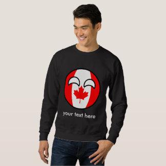 Lustiges neigendes Geeky Kanada Countryball Sweatshirt