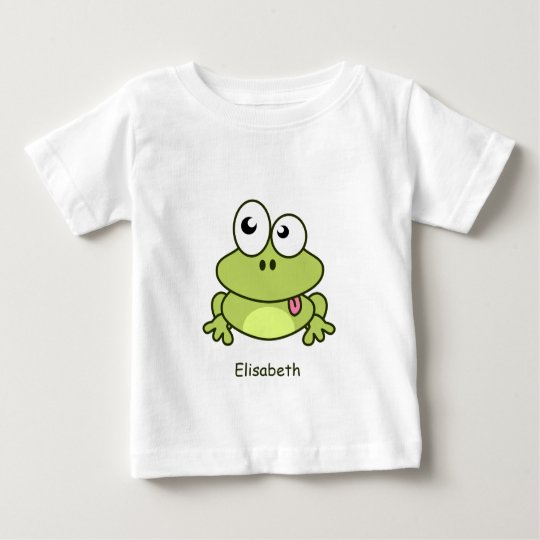 Lustiges niedliches Frosch-Cartoonnamen-Baby-Shirt Baby T-shirt