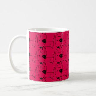 Lustiges niedliches Hündchenrot Tasse
