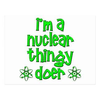 lustiges nukleares postkarte