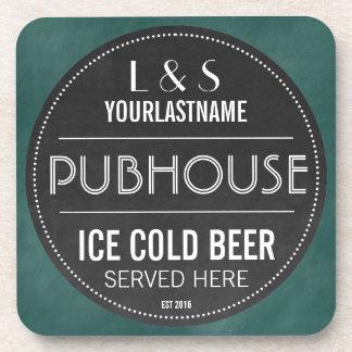 Lustiges personalisiertes Pubhouse Tafel-Zeichen Getränkeuntersetzer