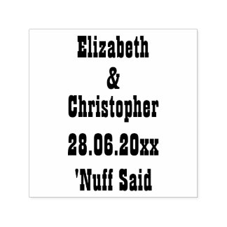 Lustiges personalisiertes Wedding Save the Date Permastempel