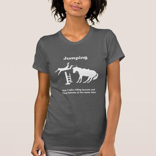 Lustiges Pferdespringender Fliegen-fallender Spaß T-Shirt
