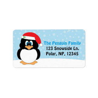Lustiges Pinguin-Weihnachten Adressetiketten