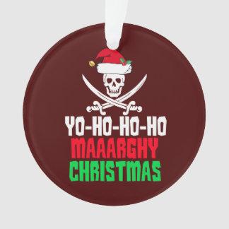 Lustiges Piraten-Weihnachtswortspiel Yo Ho Ho Ho Ornament