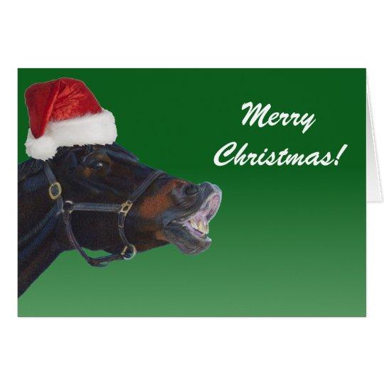 Lustiges Pony-frohe Weihnachten Grußkarte