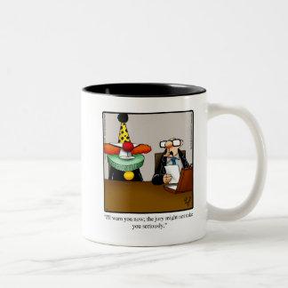 Lustiges Rechtsanwalt-Spaß-Tassen-Geschenk Zweifarbige Tasse