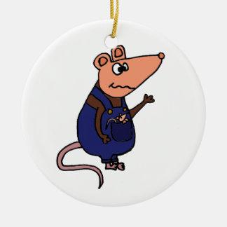 Lustiges Redneck-Opossum in den Gesamten Keramik Ornament
