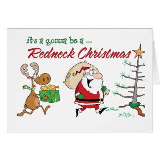 Lustiges Redneck-Weihnachten Karte