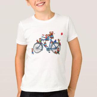 Lustiges reitenBycicle mit Kindern - der T - Shirt