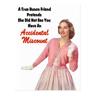 Lustiges Retro Vintages Bunco Postkarte