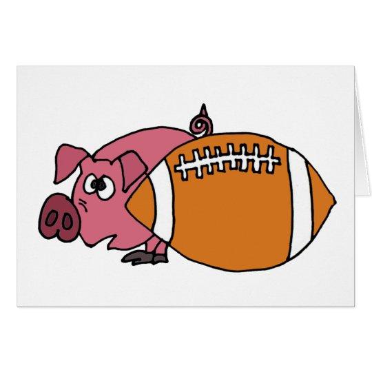 Lustiges Schwein, das hinter Schweinehaut sich Karte