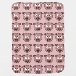 Lustiges Schwein-Muster Babydecke