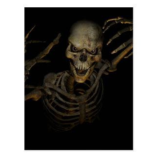 Lustiges Skelett Postkarten