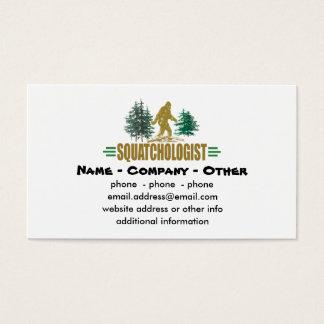 Lustiges Squatchologist, Sasquatch, glaube ich Visitenkarte