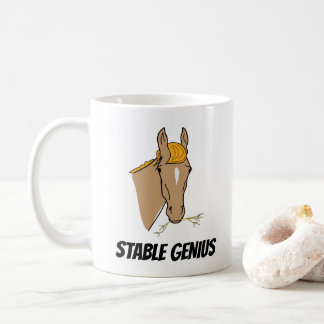 Lustiges stabiles Genie-Pferd Donald Trump Kaffeetasse