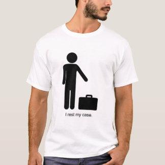 Lustiges Strichmännchen und Aktenkoffer T-Shirt