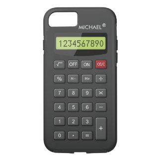 Lustiges Taschenrechner-Muster personalisiertes iPhone 7 Hülle