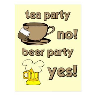 Lustiges Tee-Party Postkarte