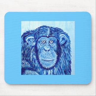 Lustiges Tier des blauen Schimpanseaffen Mauspads