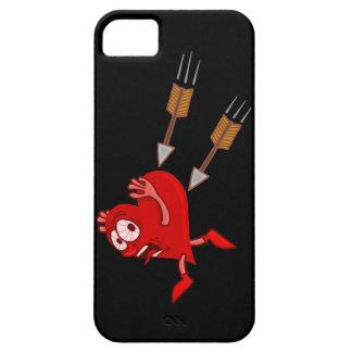 Lustiges Valentinstag-Herz, das von den Pfeilen Etui Fürs iPhone 5