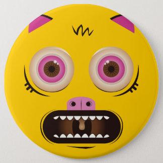 Lustiges verrücktes Monster Runder Button 15,3 Cm