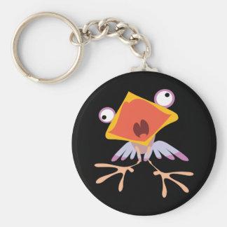 Lustiges Vogelbaby Standard Runder Schlüsselanhänger