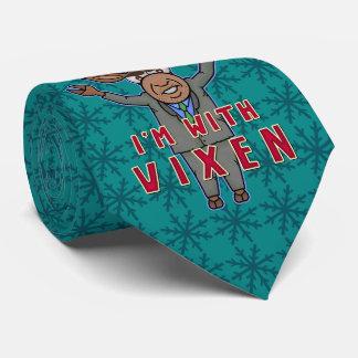 Lustiges Weihnachten bin ich mit Vixen-Ren-Wahl Bedruckte Krawatte