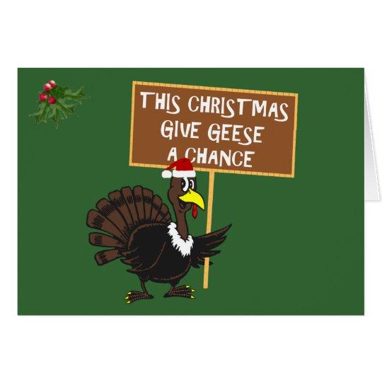 Lustiges Weihnachten die Türkei Grußkarte