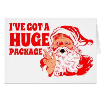 Lustiges Weihnachten, enormes Paket Karte