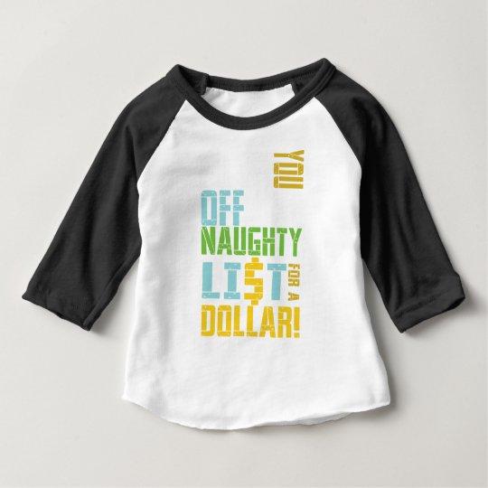 Lustiges Weihnachten - freche Liste Baby T-shirt