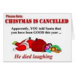 Lustiges Weihnachten ist annullierte Karte