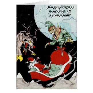 Lustiges Weihnachten Karte