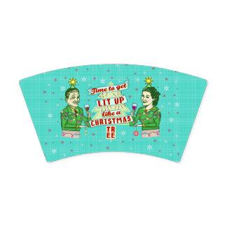 Lustiges WeihnachtsParty-Retro erwachsener Pappbecher