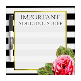 Lustiges wichtiges Adulting Material für Frauen Trockenlöschtafel