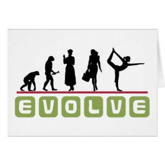 Lustiges Yoga-Geschenk Karte
